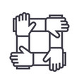 partnershipcollaborationhelp line icon vector image