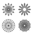 Set of mandalas Vintage decorative elements vector image