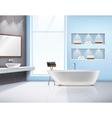 Bathroom Interior Realistic Design vector image