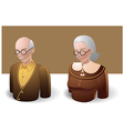 People Icons Old Man and Old Women vector image vector image