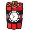 dynamite sticks with clock timer vector image vector image