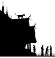 Temple leopard vector image