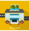 Mobile Home Flat Design Banner vector image