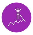Climbing line icon vector image vector image