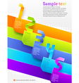 Graphic template with numbered banners vector image