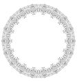Frame lace ornament vector image