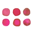 watercolor dots set Colorful watercolor vector image