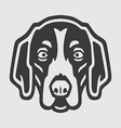 American Foxhound Head Logo Mascot Emblem vector image