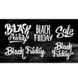 Black Friday Sale stickers set on black chalkboard vector image