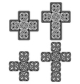 Celtic cross - set of traditional designs in black vector image