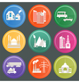 City infrastructure icons 10 vector image