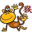 monkey chinese zodiac horoscope sign vector image