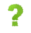 Question sign consisting of green leaves vector image