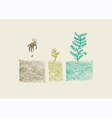 Tree growing process vector image