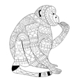 Monkey coloring for adults vector image