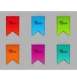 Stylish bookmarks vector image