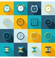 Clock icon flat set vector image vector image