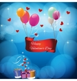 card with the text Happy valentines day vector image