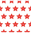 Seamless pattern with red stars vector image