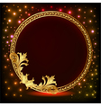 Romantic background frame with gold pattern vector image vector image