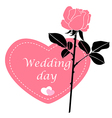 wedding rose pink vector image