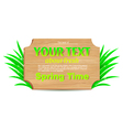 Wooden banner freshness of spring vector image