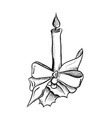 Candle drawing vector image