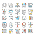 Flat Color Line Icons 7 vector image