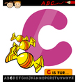 letter c with candy cartoon vector image