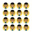 Men emotions faces vector image