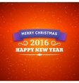 Merry Christmas and Happy New Year 2016 poster vector image