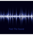 Music background sound wave Audio wave vector image