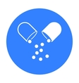 Pill icon black Single medicine icon from the big vector image