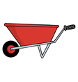 Wheel barrow cartoon vector image