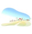 Houses on landscape vector image