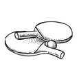 cartoon image of ping pong icon sport symbol vector image