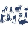 alien animals vector image vector image