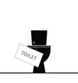 toilet black vector image
