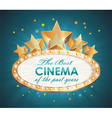 Cinema sign oval with stars vector image