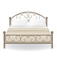 double bed 03 vector image vector image