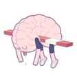 Exhausted Brain collection vector image