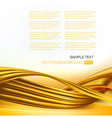 abstract background with gold design elements vector image