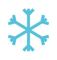 christmas blue snowflake snow decoration winter vector image