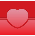 greeting card with red heart vector image