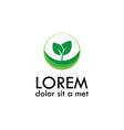 leaf seed logo vector image