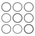 set of round rope frame collection of thick and vector image