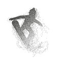silhouette of a snowboarder jumping divergent vector image