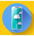 Smartphone flat icon mobile phone simple vector image