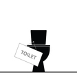toilet black vector image