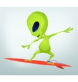 Cartoon Alien Surfboarding vector image